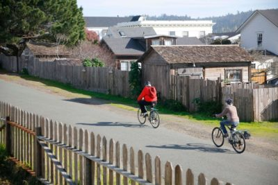 Biking on Mendocino back street