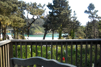 Cove room - view from the deck to the sea