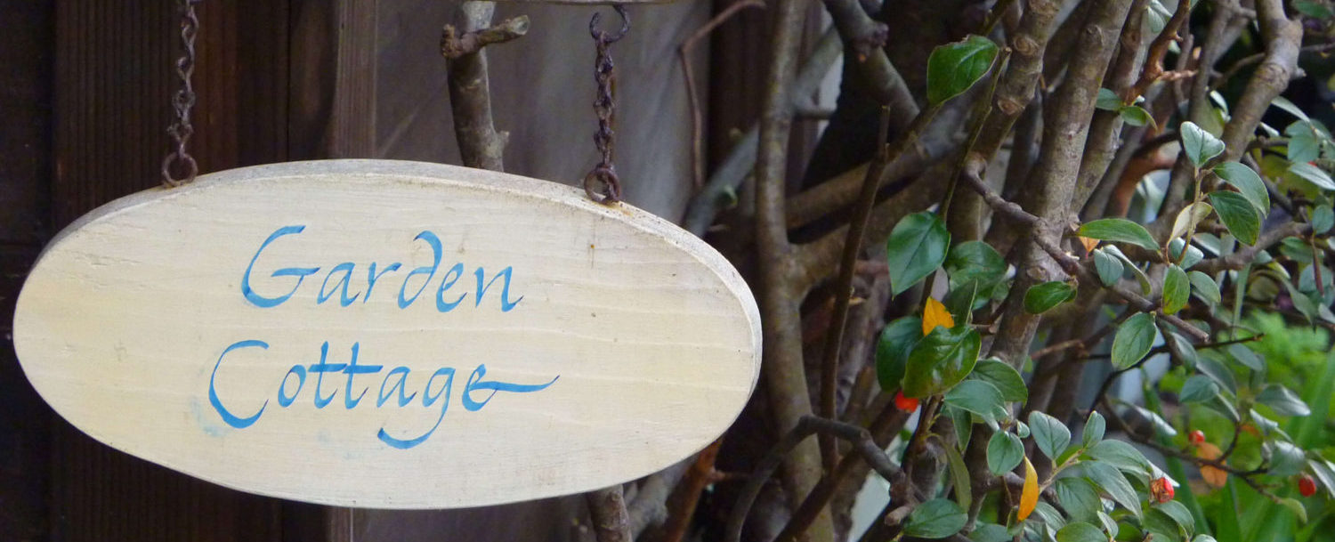Garden Cottage room sign