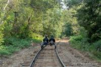 Rail Bikes on the Skunk Train tracks.
